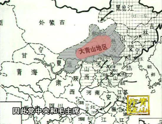 大青山地区示意图